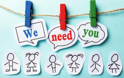 We Need You Volunteers