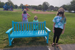 Buddy Bench on the Playground