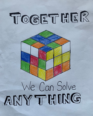 Spring T-Shirt Design - Together We Can Solve Anything